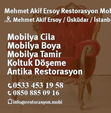 Uskudar Mehmet Akif Ersoy Mobilya Cila Boya Koltuk Doseme